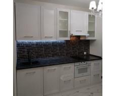 Кухня 6358 Белый металлик